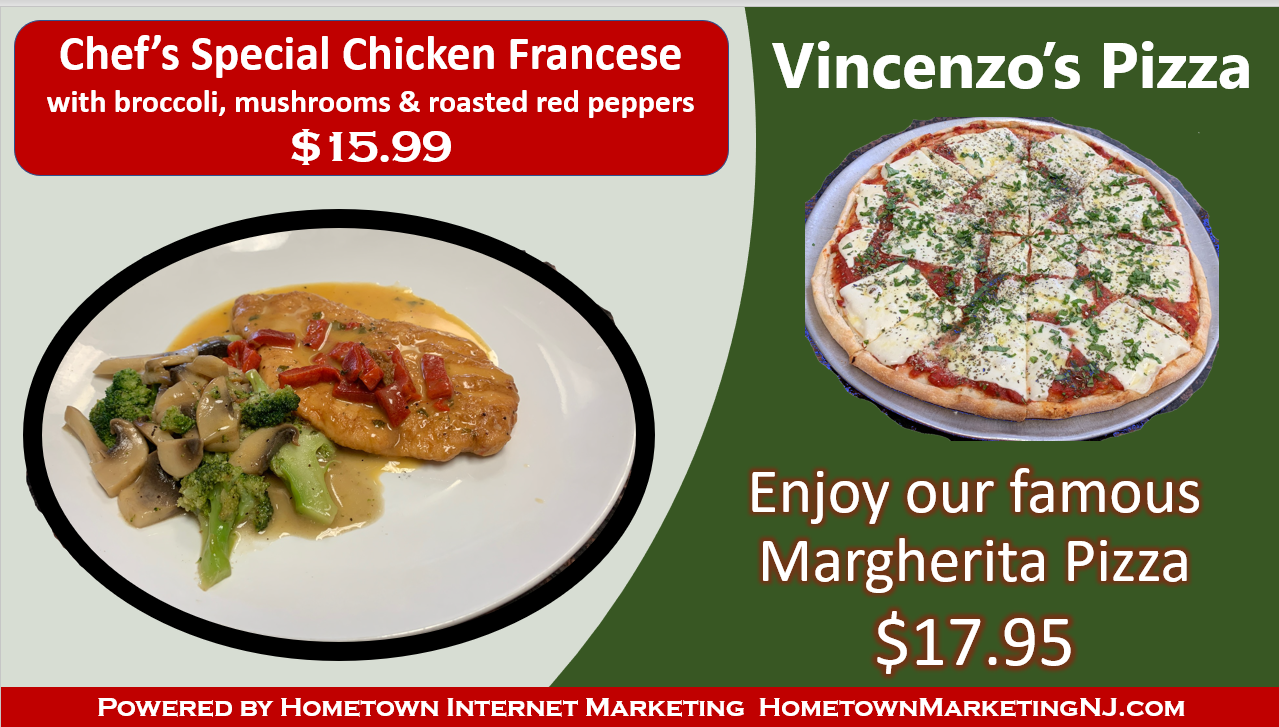 vincenzos pizza specials